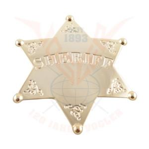 Sheriffstern aus Metall, 24 Karat vergoldet