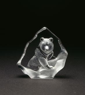 Mats Jonasson Miniatur-Kristal Braunbär