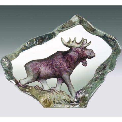 Mats Jonasson Miniatur-Color-Kristall Elch