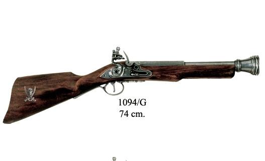 englische Tromblon,Steinschloß, grau 18.Jhdt.