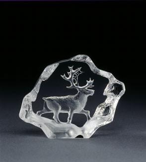 Mats Jonasson Miniatur-Kristal Hirsch