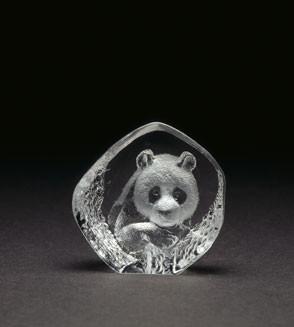 Mats Jonasson Miniatur-Kristal Panda
