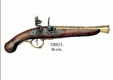 Deutsche Steinschloss-Pistole, 17.Jh. goldf.