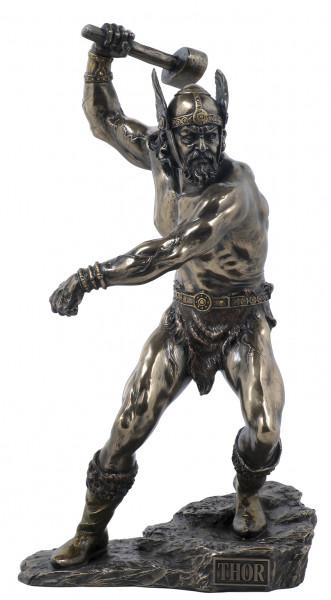 Thor, Donnergott,neu bronziert
