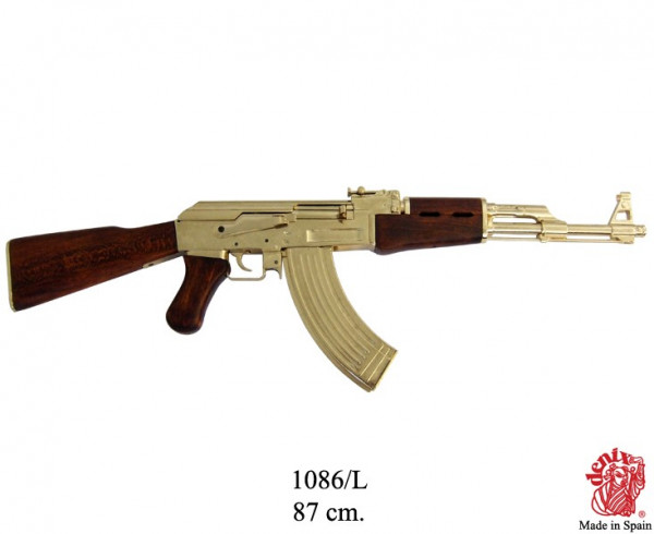 NEU Kalashnikov AK 47,vergoldete Sadam- Ausführung