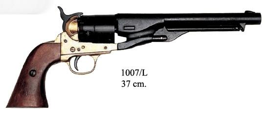 Colt Modell M 1860, schwarz/mess.