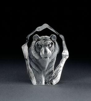 Mats Jonasson Miniatur-Kristal Tiger