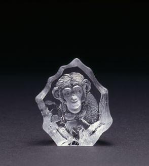 Mats Jonasson Miniatur-Kristal Affe