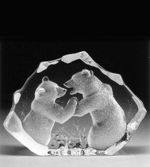 Mats Jonasson Kristall kämpfende Eisbären