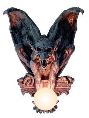 Wandlampe Sitzender Gargoyle