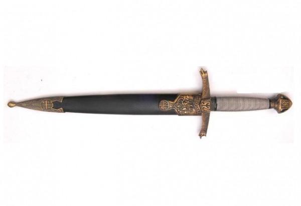 Lancelot-Dolch mit Wappenknauf