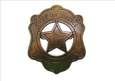 US-Polizeichef Abzeichen,