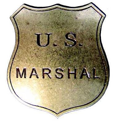 US-Marshall Badge messingf.