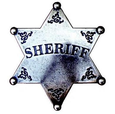 Sheriffstern grau 7,5 cm