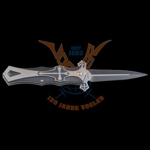 Vampirkreuz-Messer m.schwarz.