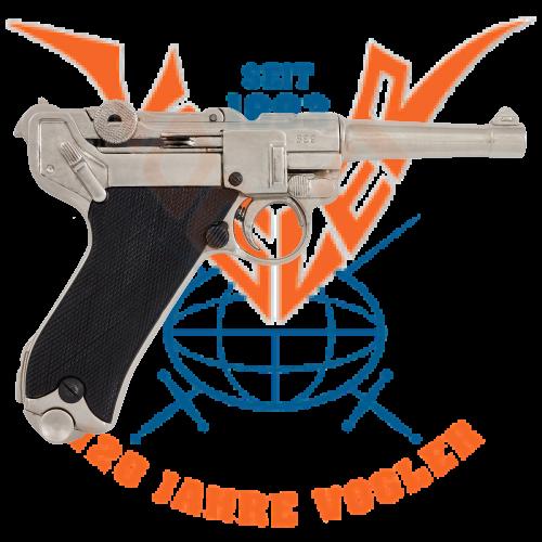 Luger-Pistole PO8 Parabellum silberf.