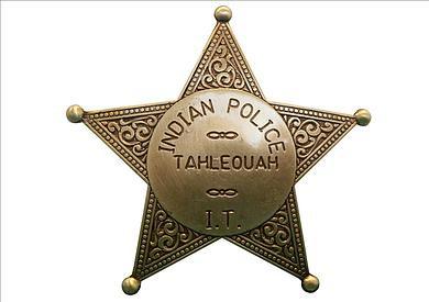 Indianerpolizei Stern messingf.