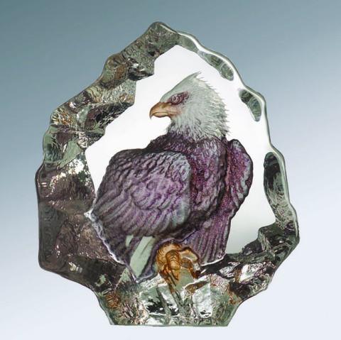 Mats Jonasson Miniatur-Color-Kristall Adler