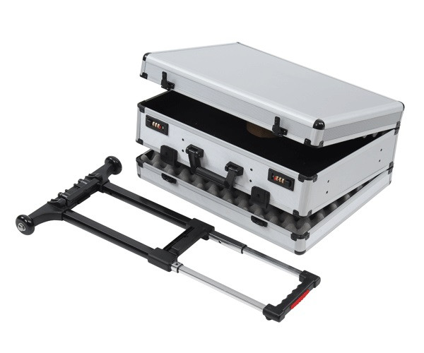 Doppelkoffer für mehrere Pistolen mit Trolley