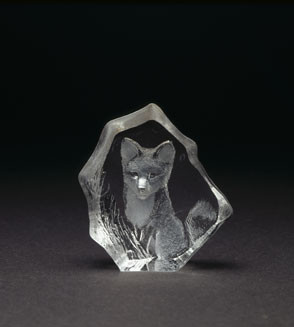 Mats Jonasson Miniatur-Kristal Fuchs