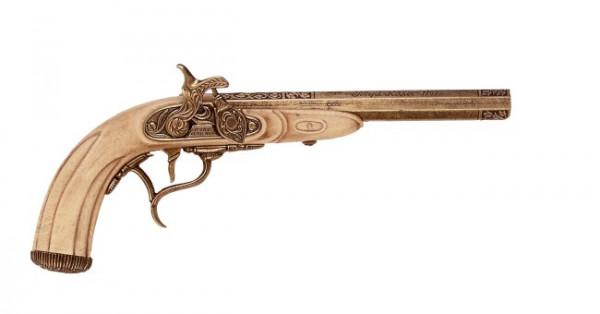Perkussionspistole Eflenbeinf.