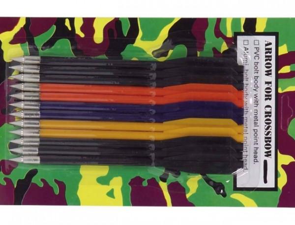 Pfeile 6,5 Zoll Kunststoffbolzen 12er Pack