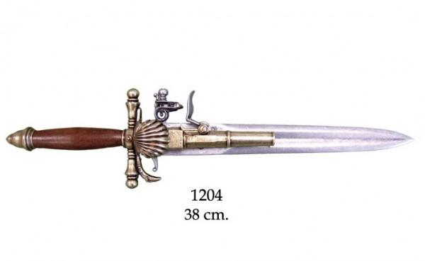 Steinschl.Pistole/Messer Fr.18.Jahrh