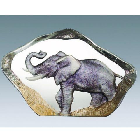 Mats Jonasson Miniatur-Color-Kristall Elefant