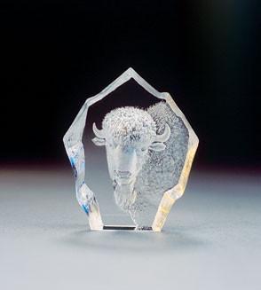 Mats Jonasson Miniatur-Kristal Büffel