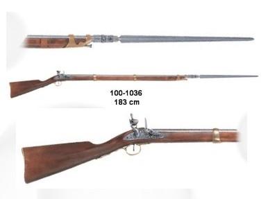 Franz.Gewehr m. Bajonett